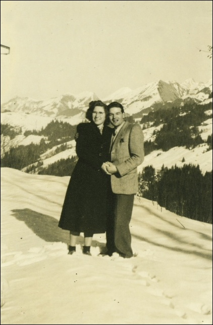 Marcel Remy courting his wife, always in the mountains