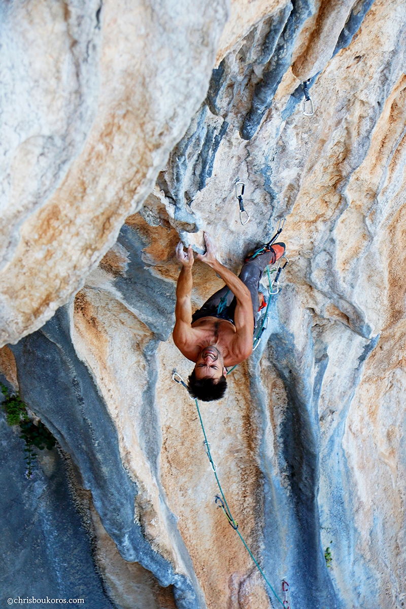 "Aristos Thanopoulos on ""Magnum Opus"" 7b+, sector Babala"