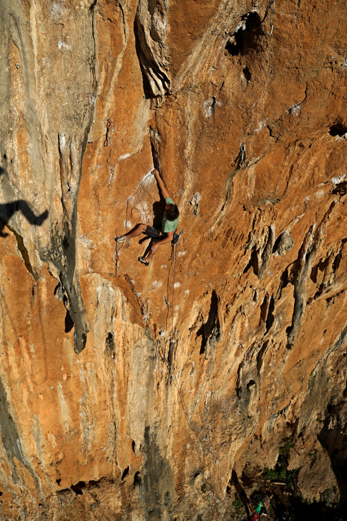 "Constantinos Vrohidis on ""Hello"" 7c+, sector Mavrosouvala. Photo: Aris Theodoropoulos/Climb Greece"