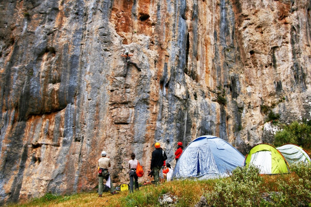 Lagada, a beautiful crag with an alpine feel near the town of Sparta. Photo: Aris Theodoropoulos/Climb Greece